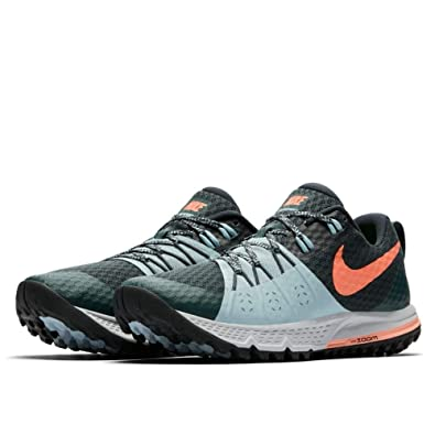 Amazon.com | Nike WMNS Air Zoom Wildhorse 4 Deep Jungle/Crimson Pulse (7.5 B US) | Fashion Sneakers