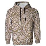 Paskcc Men's Hoodie Slim Tunic Waterproof Egyptian Persian Traditional Yoga