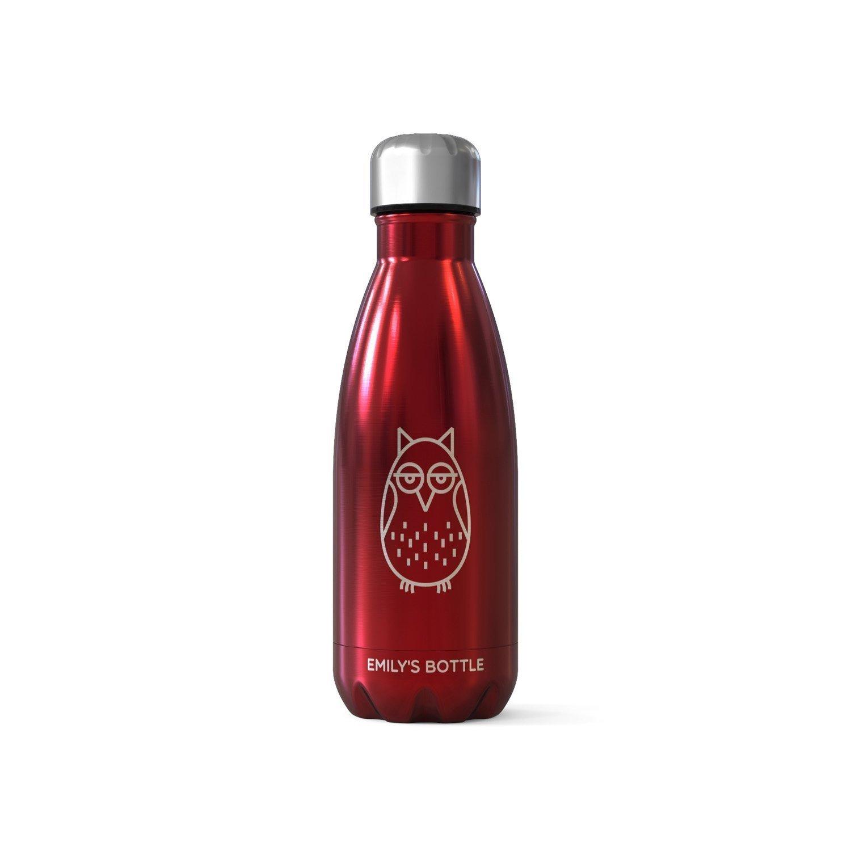 Personalisierte Trinkflaschen/Flachmä nner - Cute Owl