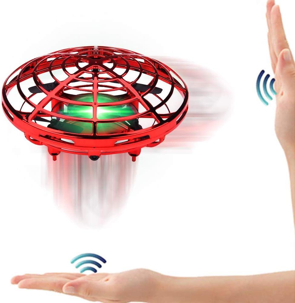 SPECOOL Mini UFO Drone Ball Juguete Volador Helicóptero De Inducción con Infrarrojos Interactivos Aeronave Sensores Luces Giratorias De 360 °LED Juguetes Regalo