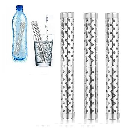 HailiCare 3 Piezas Varillas purificadoras de agua con filtro alcalino ionizador del pH Iones negativos Agua