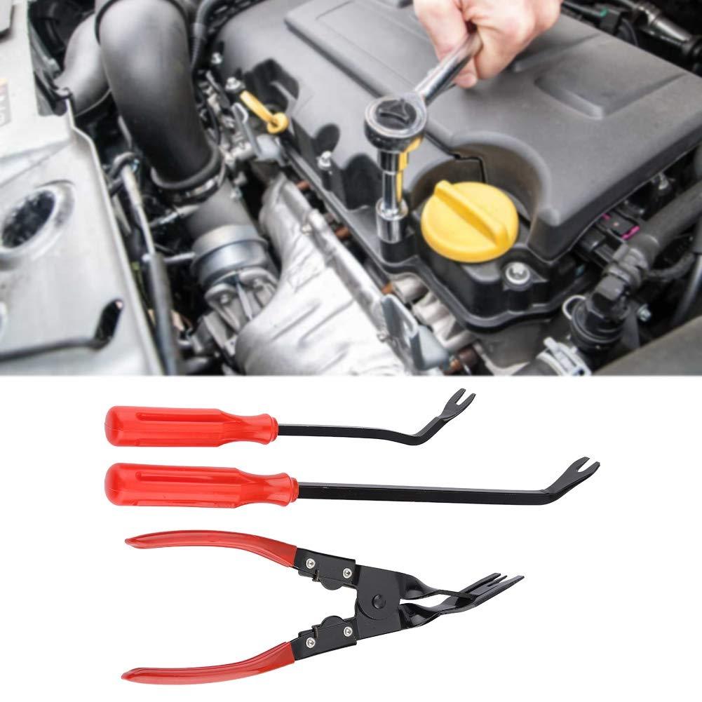 3pcs//Set Juego de alicates de clip Panel Clips Alicates Extractor de ajuste Extractor de sujetadores para herramienta de reparaci/ón de puerta de coche