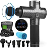 MECO 20 Speed LED Touch Screen Muscle Massage Gun Massager Booster Percussion 2500mAH+Carry Bag AU Plug