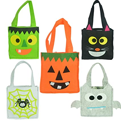 Amazon.com: 5 paquetes de bolsas para Halloween o dulces ...
