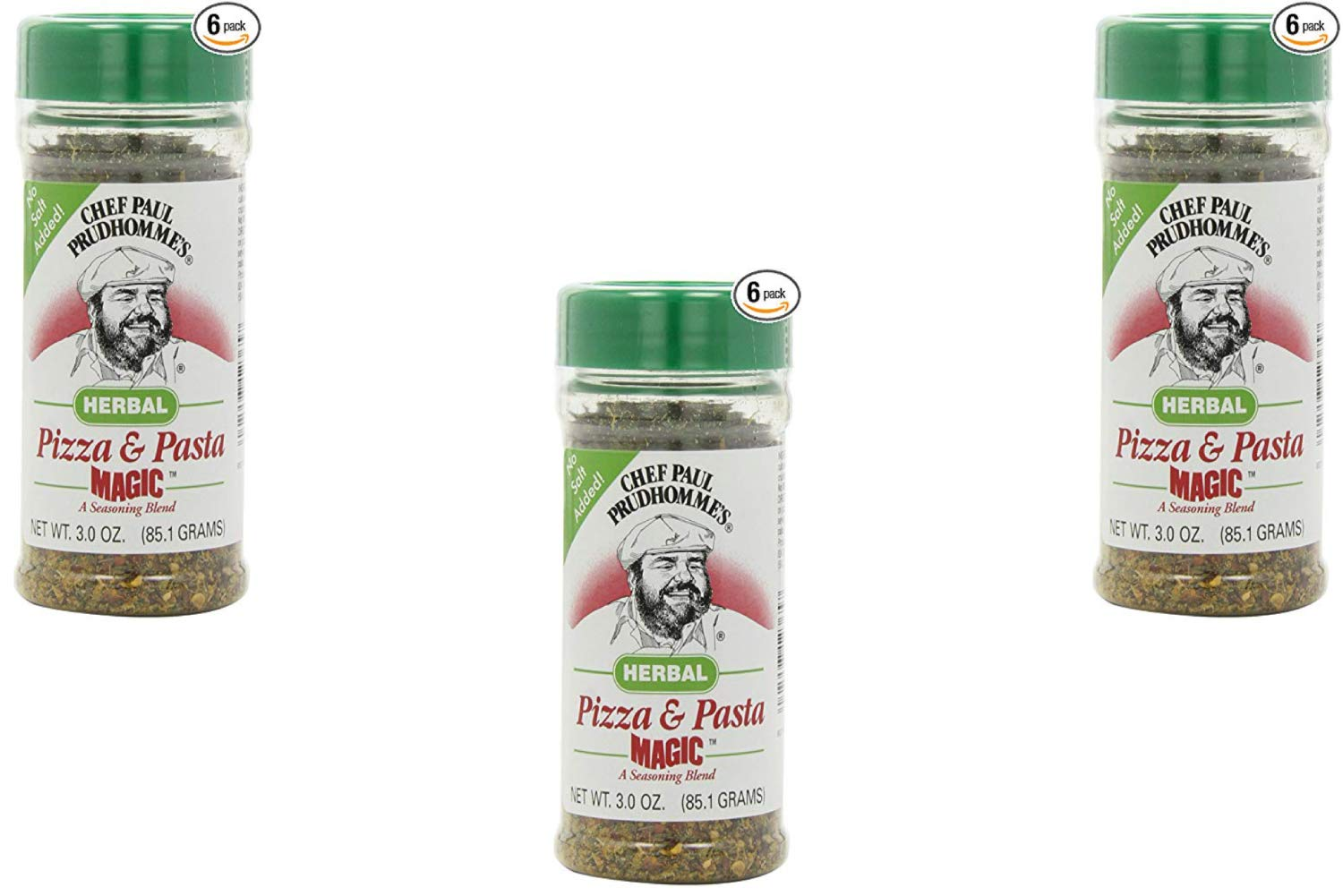 Magic Seasoning Blends Herbal Pizza and Pasta Magic, 3-Ounce Bottles (Pack of 6) (3 Pack)