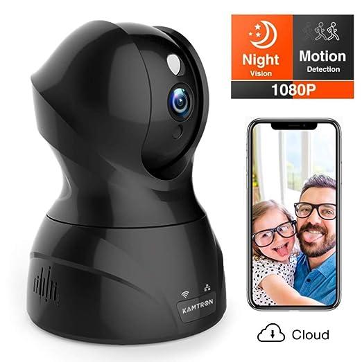 WAWZNN 1080P Cámara IP WiFi para Mascota, Cámara de Vigilancia con ...