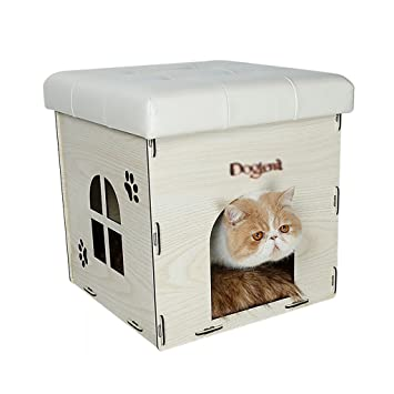 Cueva de mascotas Villa Cat Escabel Nido de gato Lavable Casa del gato verano Casa de ...