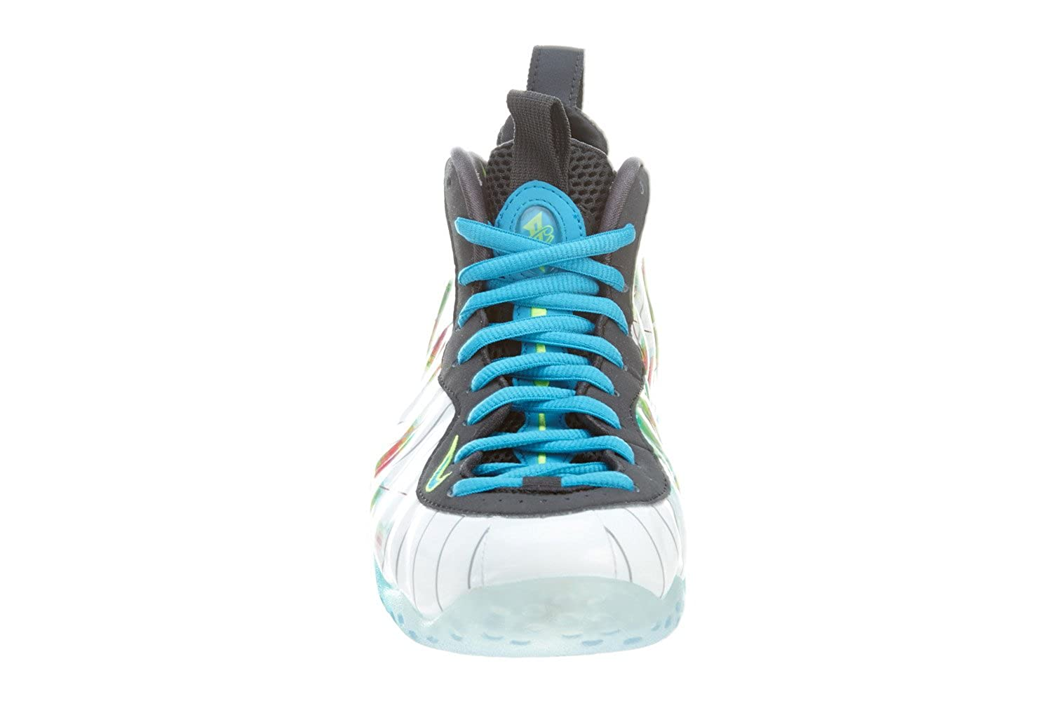 brand new 8283f dd0d8 wholesale amazon nike air foamposite one premium weatherman mens basketball  shoes white current blue flash lime