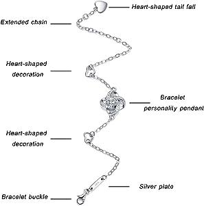 c4dcd63d69d124 Amazon.com: Christmas Gift Bracelet for women -925 sterling silver ...