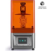 """ELEGOO MARS UV Photocuring LCD 3D Printer with 3.5"""" Smart Touch Color Screen Off-line Print 4.72""""(L) x 2.68""""(W) x 6.1""""(H) Printing Size-Silver"""