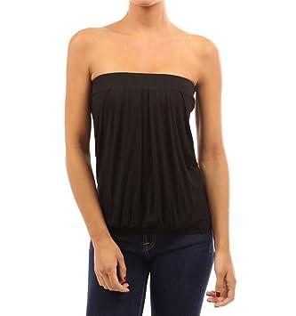 443f454611773 Westeng Femmes Bustier Bandeau Casual Vest Shirt Eté sans Bretelles Tee- Shirt pour Plage ou