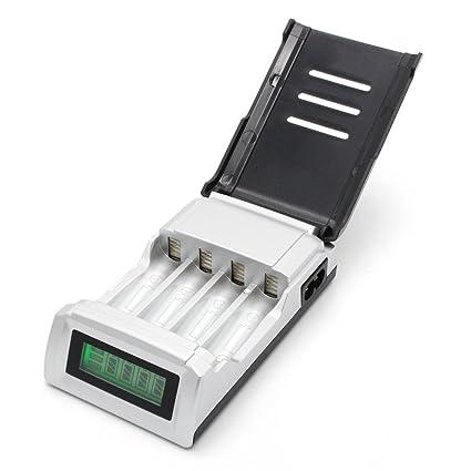 Amazon.com: tonshen LCD Quick Cargador de batería para AA ...