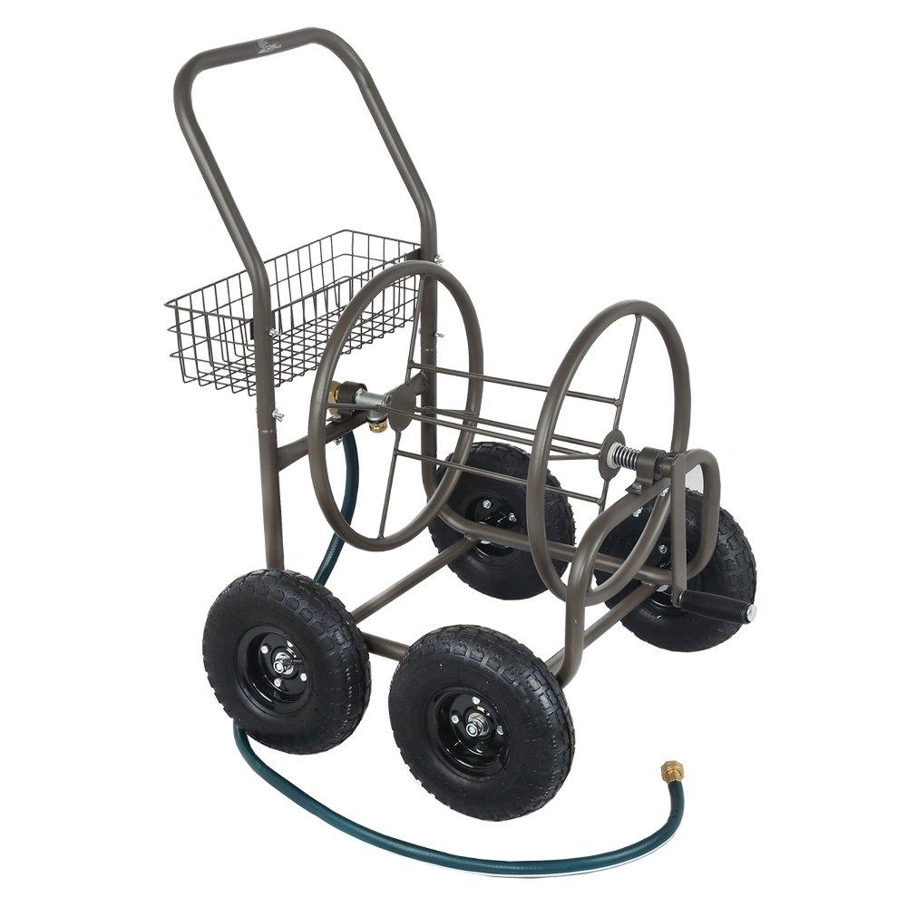 Palm Springs 4 Wheel Portable Garden Hose Reel Cart on Wheels - Holds 250ft Garden Hose by Palm Springs