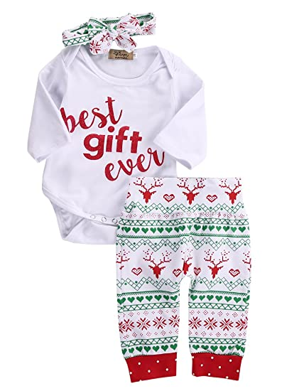 28570381e02c Newborn Baby Infant Boy Christmas Best Gift T-Shirt Tops+Pants Outfits Sets  (