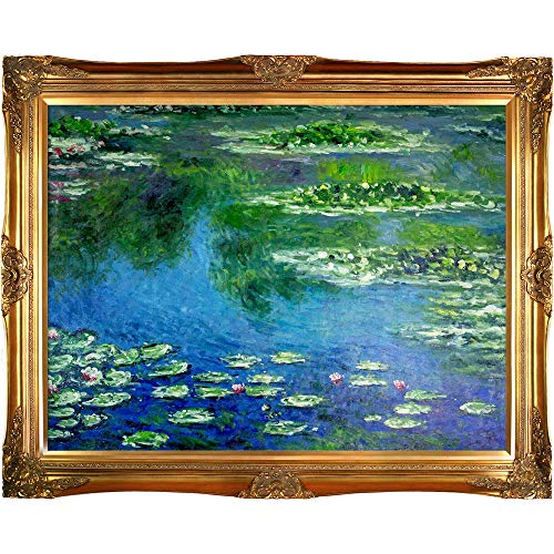Van Gogh Water Lilies - overstockArt Monet Water Lilies Painting with Victorian Gold Frame Finish