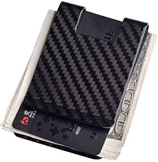 Amazon.com: Travelambo Carbon Fiber Money Clip Front Pocket ...