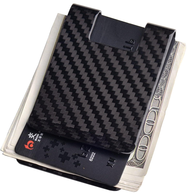 Carbon Fiber Money Clip Credit card holder CL CARBONLIFE RFID