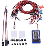 Onkuey New Highlight 12-LED Flashing Light Lamp System for RC Cars Trucks 1/10th Scale Smaller Par