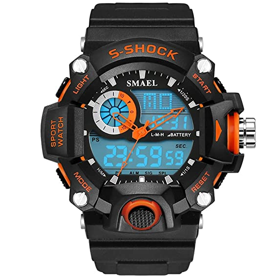 Analógica Sport Digital resistente al agua para niños reloj para niños stopwatches: Amazon.es: Relojes