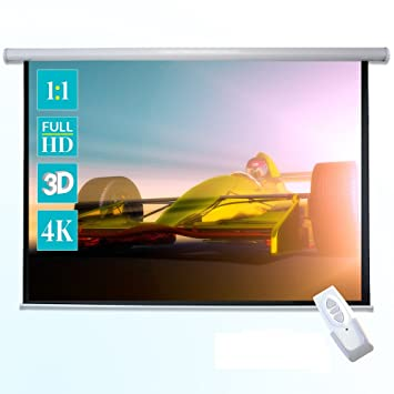 Beamer-leinwände Dvd, Blu-ray & Heimkino 16:9 Full Hd 3d 4k Beamer Leinwand Tension Motorleinwand 90 Zoll 200 X 113