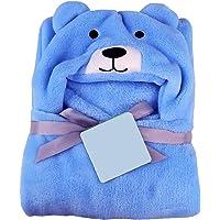BRANDONN Newborn 3-in-1 Wrapper/Baby Blanket/Bathgown Baby Bath Towel