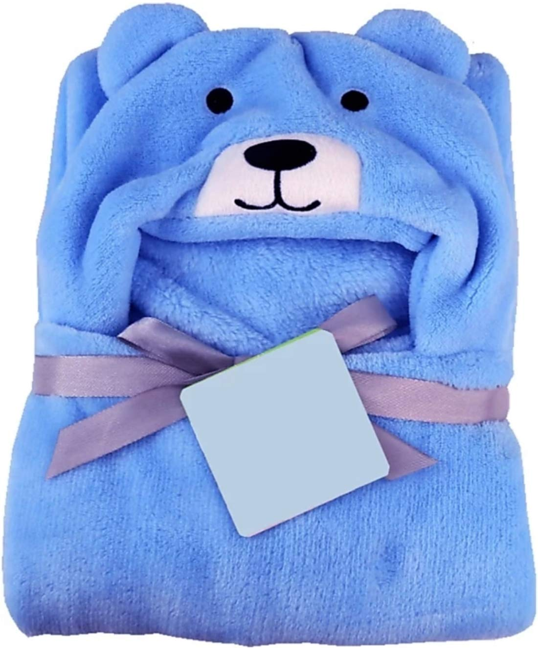Brandonn All in 1 Ultrasoft Luxury Hooded Funny Caps Wrapper/Baby Bath Towel/Baby Blanket