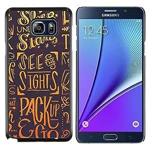 """Be-Star Único Patrón Plástico Duro Fundas Cover Cubre Hard Case Cover Para Samsung Galaxy Note5 / N920 ( Sleep Estrellas Dreams Slogan Cita Arte"""" )"""