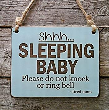 Shhhby Sleeping Sign Baby Shower Gift Front Door Sign