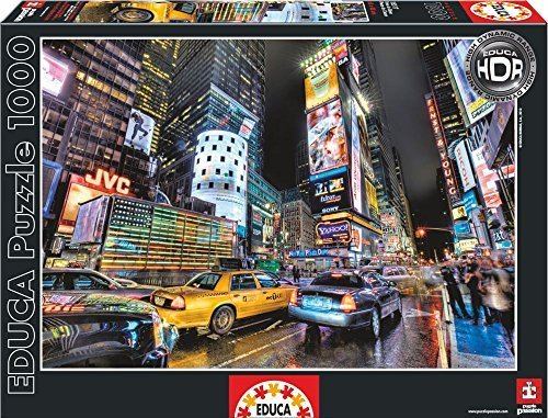 Educa Times Square New York Puzzle (1000 Piece), One Farbe by Educa