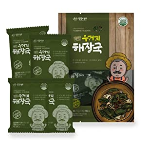 Instant Cabbage Leaf Soup 50g x 5, Product of Korea 우거지 해장국