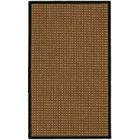 NaturalAreaRugs Seaside Collection Sisal Area Rug, Handmade in USA, 100% Sisal, Non-Slip Latex Backing, Durable, Stain Resistant, Eco/Environment-Friendly, (3 Feet x 5 Feet) Black Border