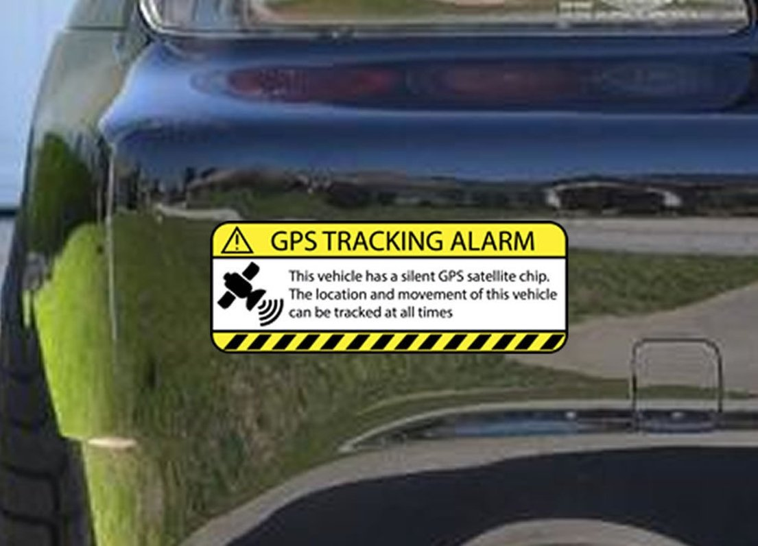 Amazon com 2pcs great warning truck gps tracking alarm decal car stickers home kitchen