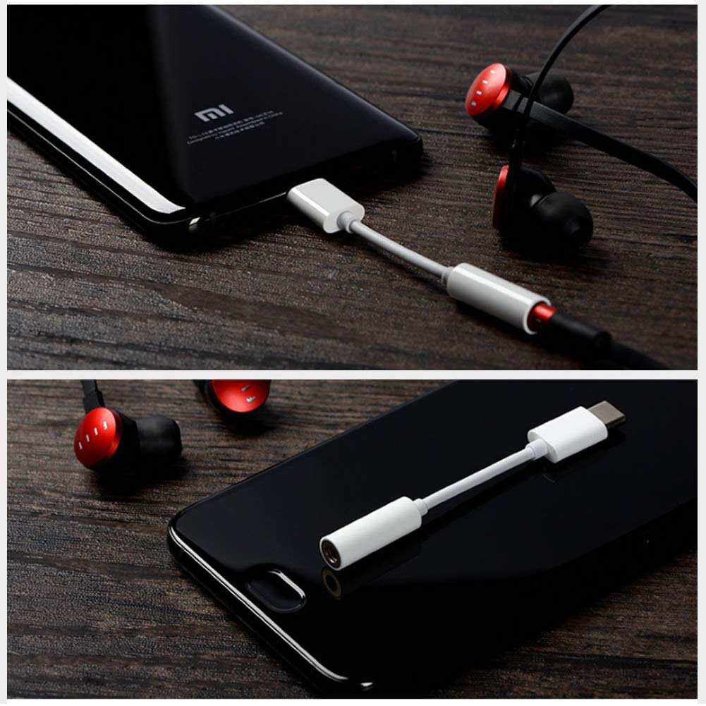 Neborn Adaptador de Conector para Auriculares USB C Cable de Audio Auxiliar Tipo C a 3,5 mm Hembra para Google Pixel 2 3 XL Samsung Essential Huawei Moto OnePlus HTC Xiaomi etc
