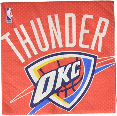 Sports and Tailgating NBA Party Oklahoma City Thunder Luncheon Napkins Tableware, Paper, 6