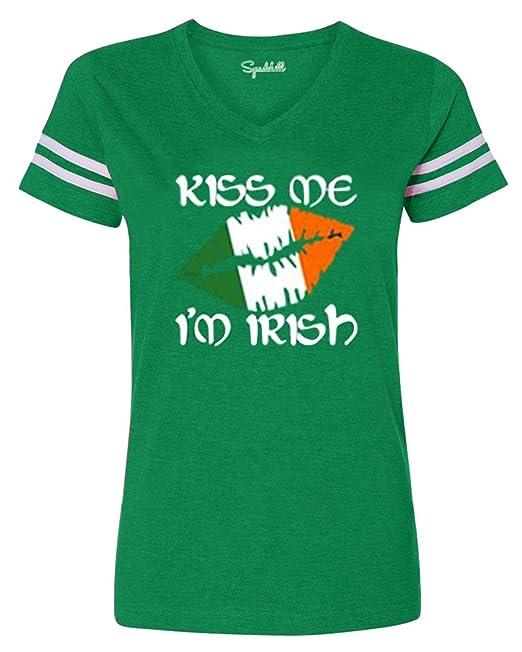Spadehill St Patrick S Women S Green V Neck Short Sleeve T Shirt At