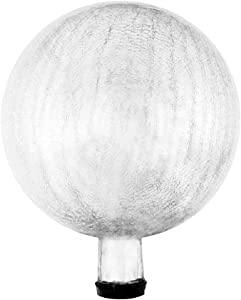 Achla Designs G10-S-C Gazing, Silver 10 inch Glass Garden Globe Ball Sphere, 10