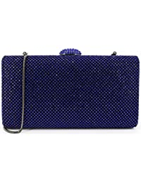 Dexmay Large Rhinestone Crystal Clutch Evening Bag Women Clutch Purse for  Cocktail Prom Party 025fc13db9d2