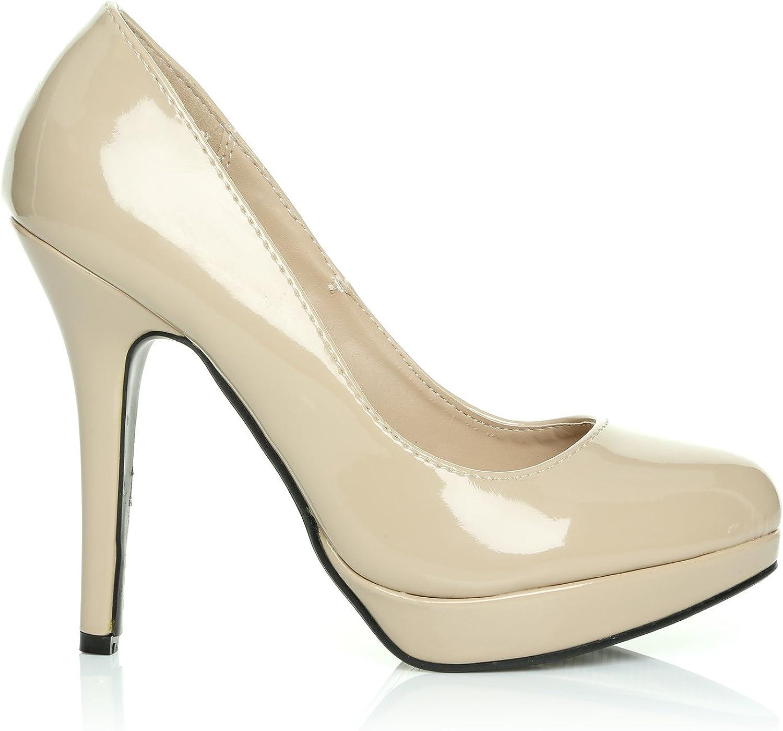 Black Patent Pu Sling Back High Heel Court Shoes