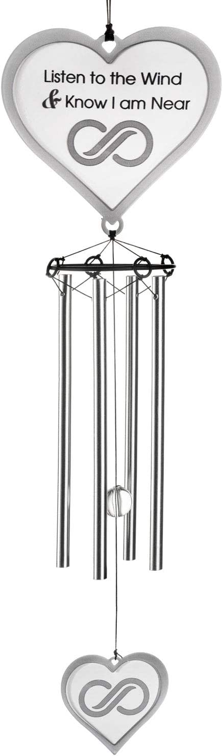 Memorial Wind Chimes | Sympathy Gift | Thinking of You | Powder Coated - Will NOT Rust