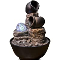 Zen' Light Nature Verso Fuente, Resina, Bronce, 17 x