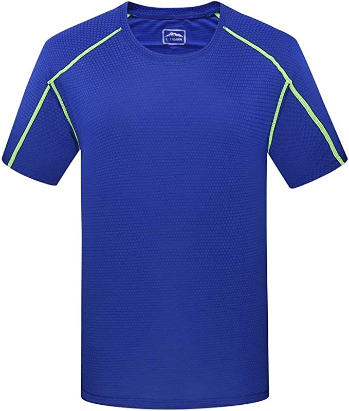 Mens Training T-Shirt Breathable Gym Sports Running Cycling Tee Moisture Wicking