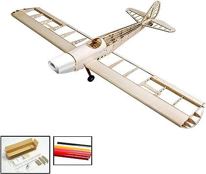 RC Aeroplano Balsawood Space Walker Wingspan 1230 mm Balsa Madera Modelo de avión Kit de construcción + Cubierta: Amazon.es: Juguetes y juegos
