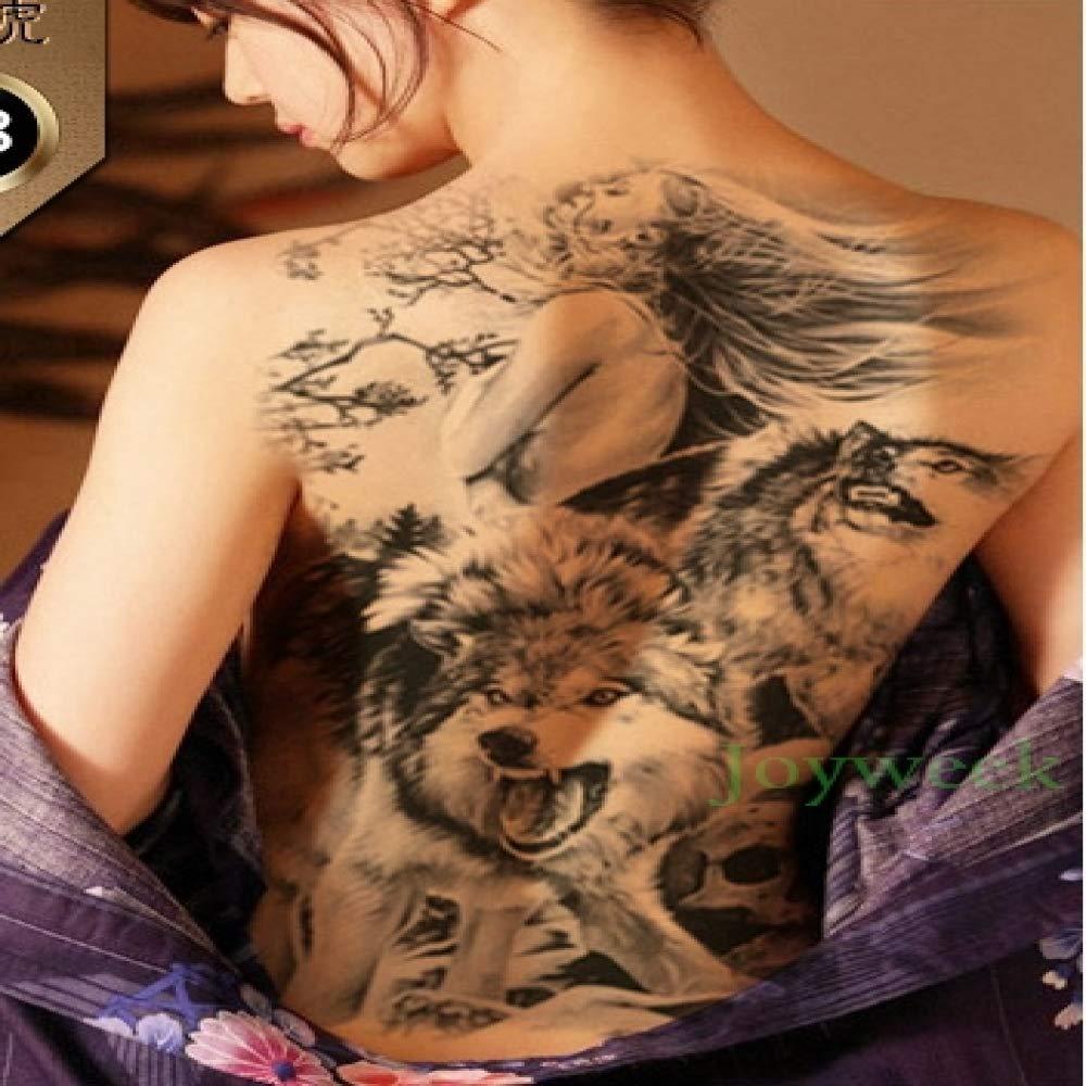 ljmljm 5pcs Impermeable Etiqueta engomada del Tatuaje de la ...