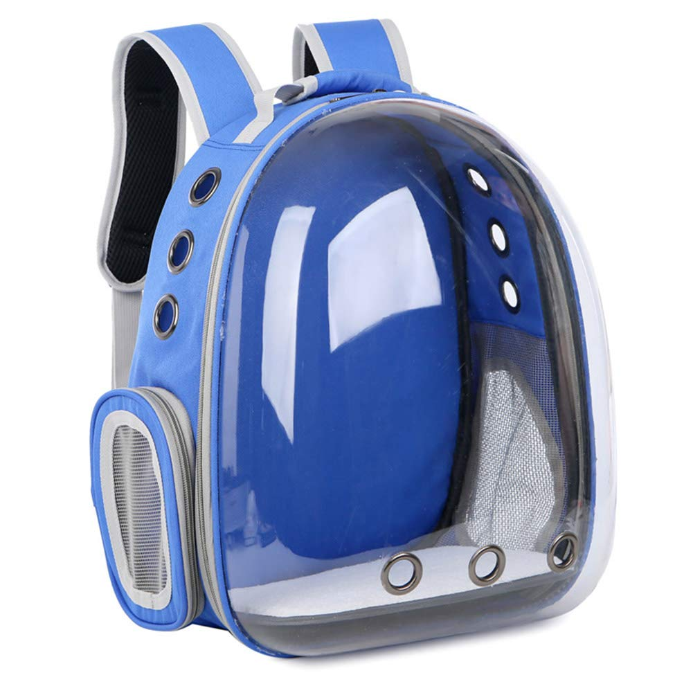 bluee Pet Backpack Travel Bag for Cat Space Surface Breathable Mesh Window Pet Carriers Outdoor for Cat and Puppy,Red