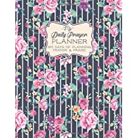 My Daily Prayer Planner: 365 Days of Planning, Prayer and Praise - One Year Daily and Monthly Undated Planner - Vintage Floral Stripe - 8.5x11 (My Faithful Grateful Heart Series)