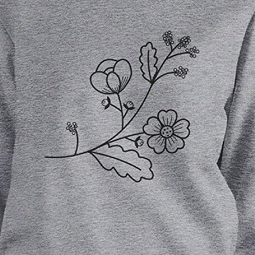 manga mujer flor Sudadera Printing talla de para 365 de una larga gBtYaq