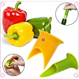 MAXGOODS Pepper Corers Twist to Core & Seed Bell & Chili,Random color