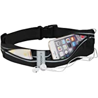 ROCONTRIP Running Belt Waist Pack, Water Resistant Runners Belt Fanny Pack for Hiking Fitness Adjustable Running Pouch for All Kinds of Phones iPhone Android Windows