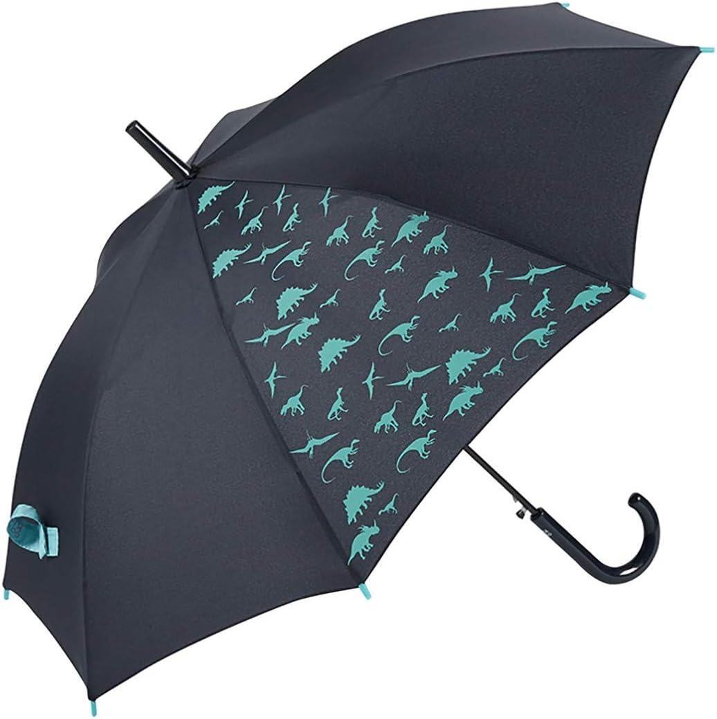 3 Couleurs GOTTA Parapluie Transparent et Coupe-Vent pour Enfant Gar/çon et Fille Ouverture Manuelle avec Poign/ée Courb/ée en Plastique et Tissu Imprim/é Rayures et Bateaux Bleu