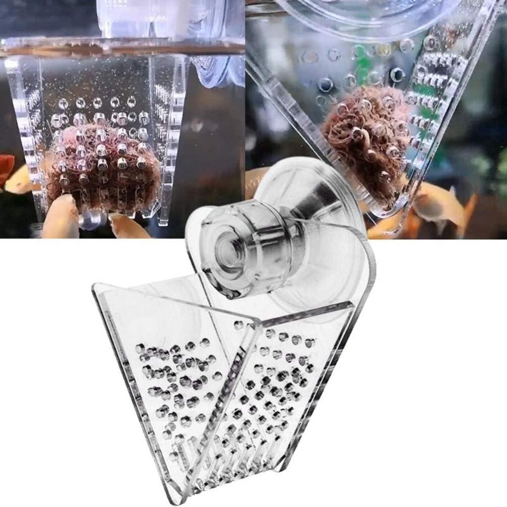 XEOGUIYA Cone Red Worm Feeder, Acrylic Fish Tank Feeder Cup Fish Food Dispenser for Aquarium or Fish Tank
